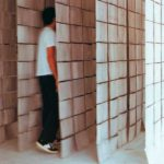 'paredes de papel' . 'paperwalls' . in bilbao . ink, paper and cord . 300 x 400 x 300 cm . 1997