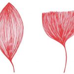 'plantas' . 'plants' . red ink on paper . 15 x 21 cm. 2008
